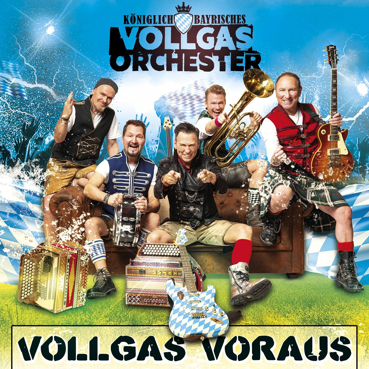 Königlich Bayrisches Vollgas Orchester Single CD Vollgas Voraus